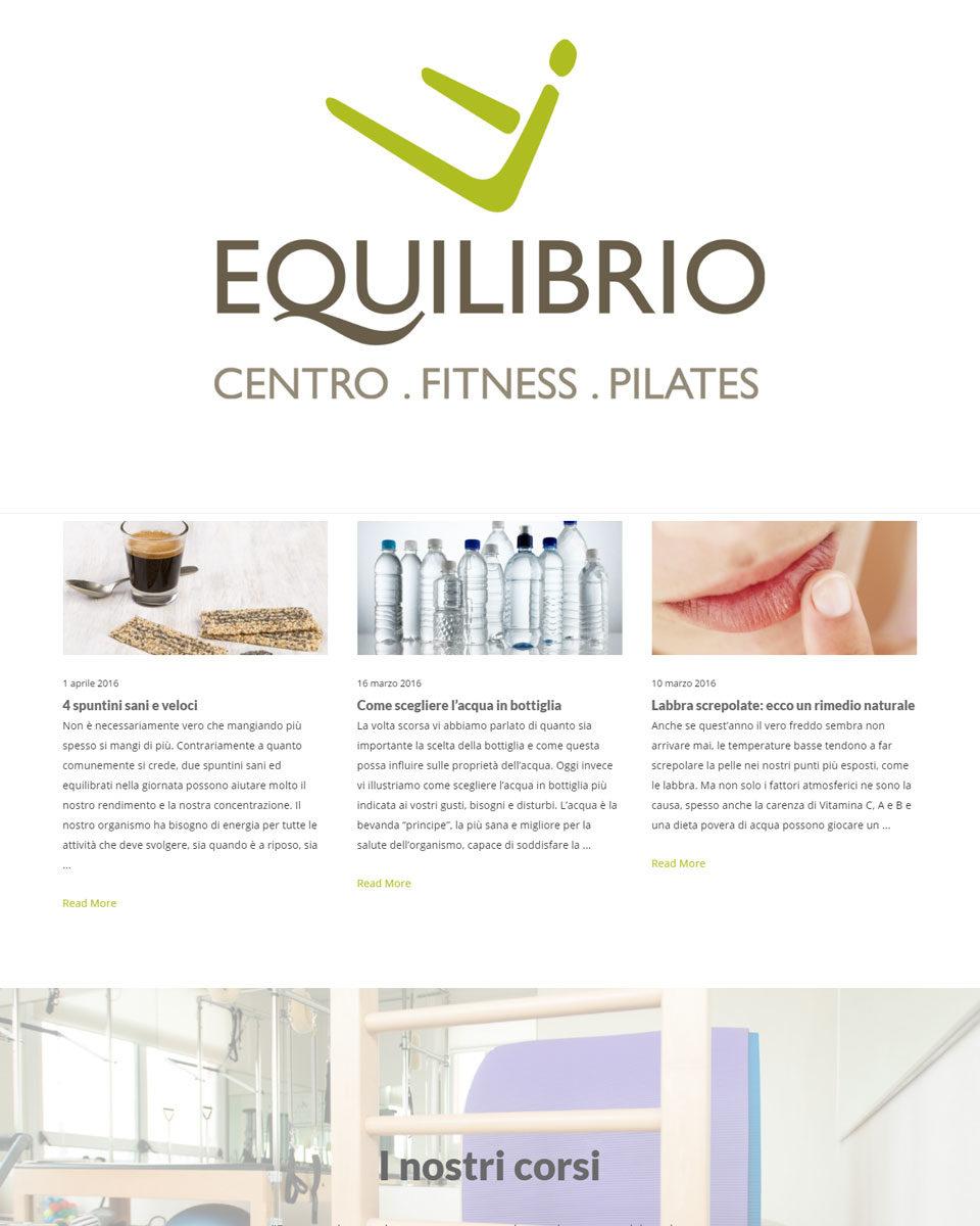 realizzazione sito web equilibrio pilates area web imola