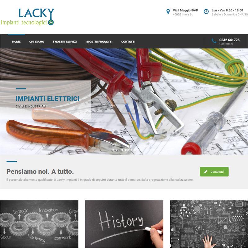 realizzazione sito web lacky impianti area web imola