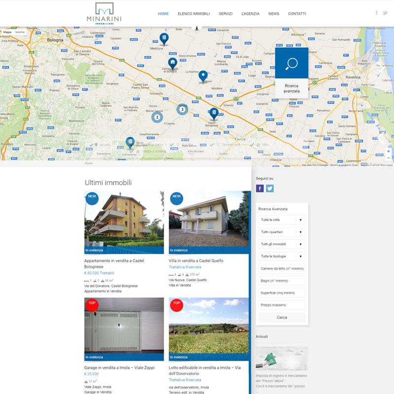realizzazione sito web minarini immobiliare area web imola
