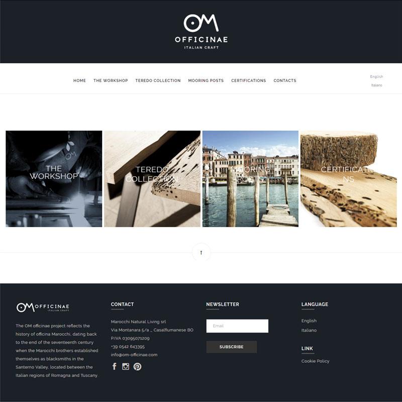 realizzazione sito web om officinae area web imola