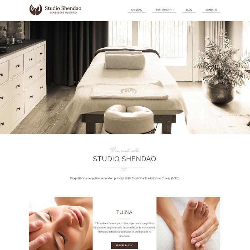 realizzazione sito web studio shendao benessere imola - area web imola