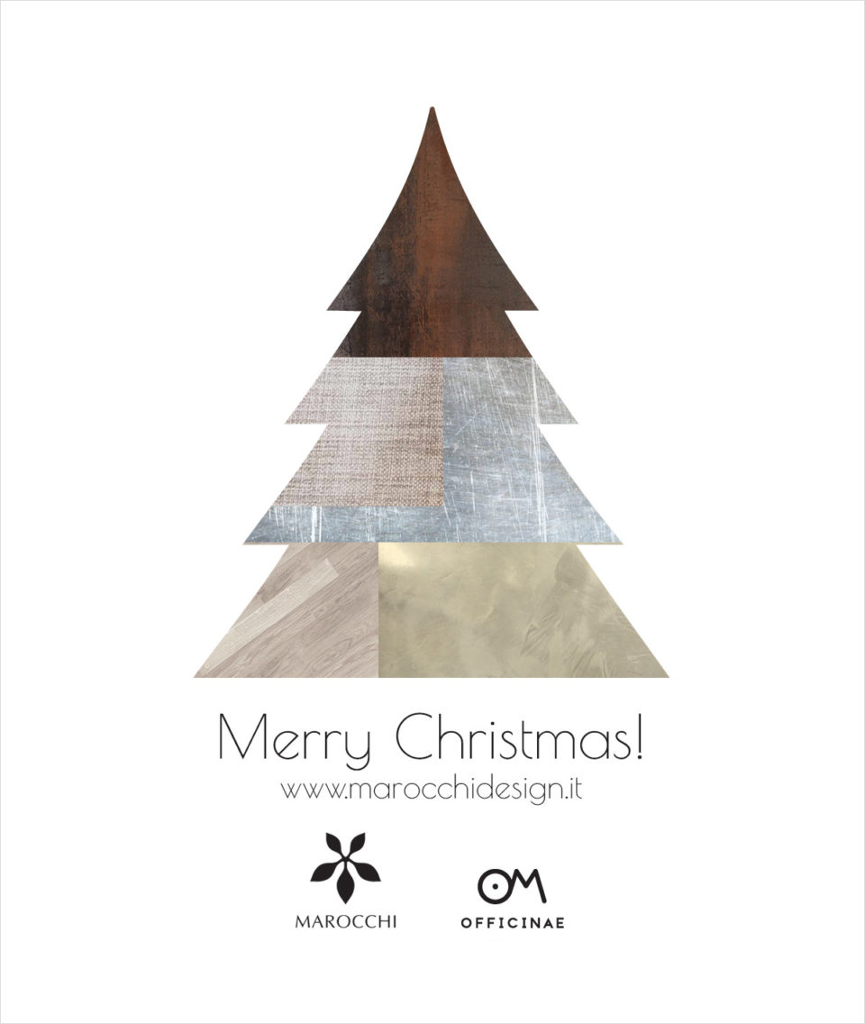 grafica merry christmas card marocchi 2018 - area web imola
