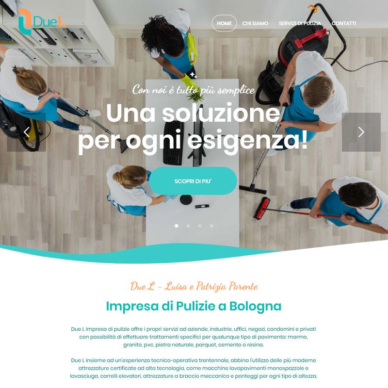 realizzazione sito web bologna due l impresa pulizie - area web