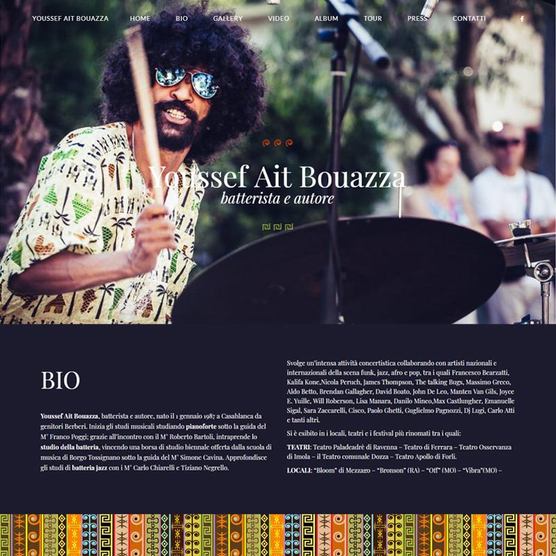 realizzazione sito web youssef ait bouazza batterista autore - area web imola