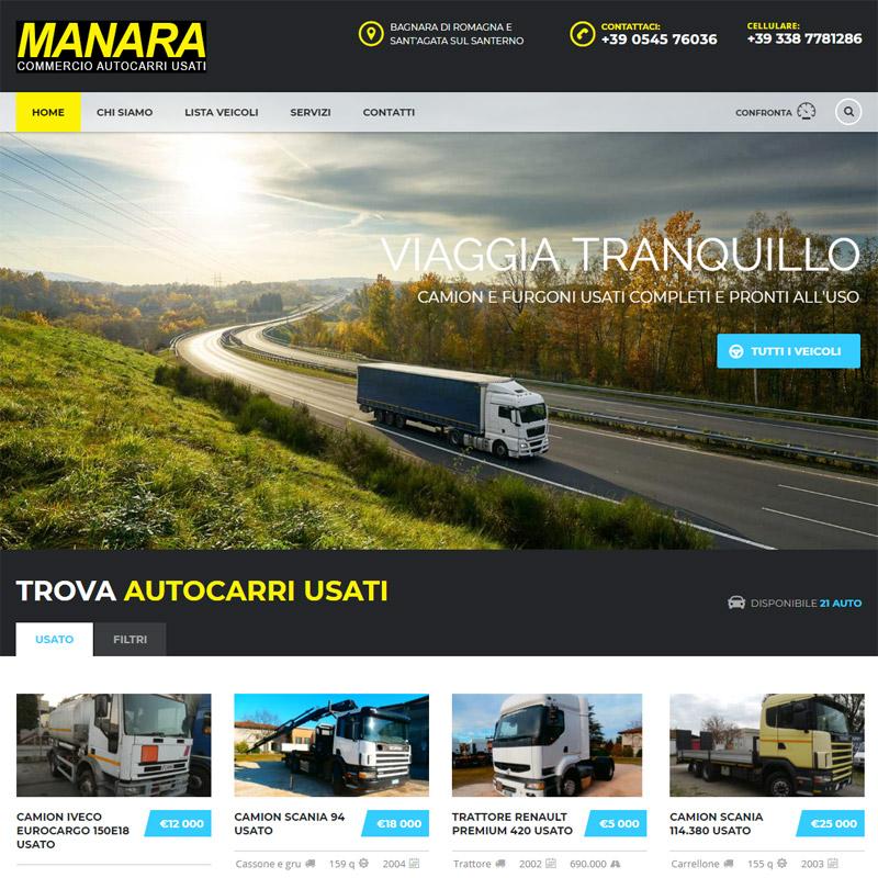 realizzazione sito web manara camion ravenna - area web imola
