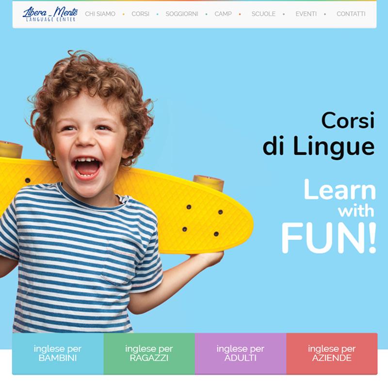 realizzazione sito web liberamente educraft - corsi di lingue imola bologna - area web