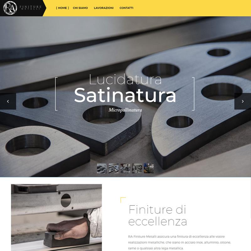 realizzazione sito web ra finiture metalli imola - area web