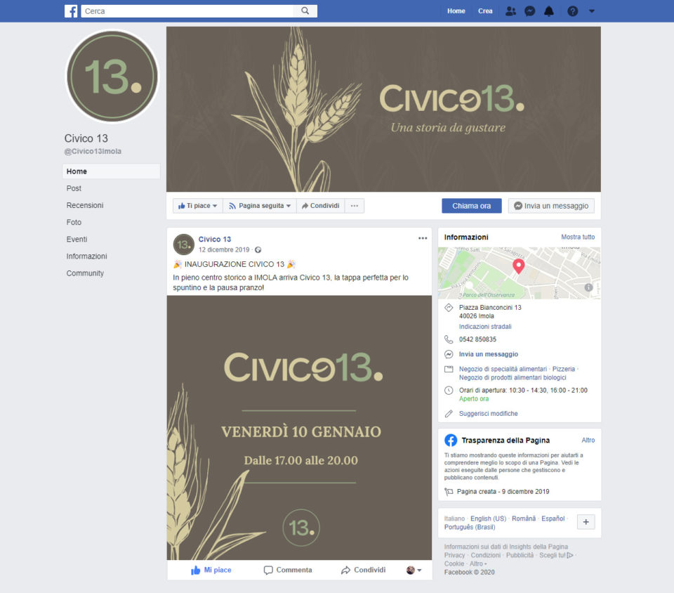immagine coordinata aziendale legumaria civico13 imola - area web