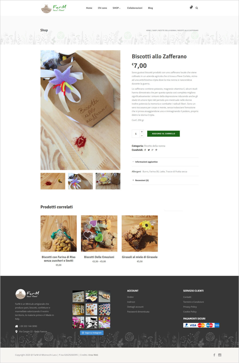 realizzazione ecommerce farm local food faenza - area web imola